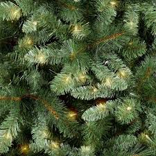 7ft Prelit Artificial Christmas Tree Douglas Fir Clear Lights Rotating Stand