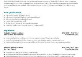 Medical Assistant Resume Samples From Templates For Administrative Free