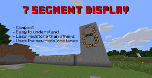 Redstone Lamp Minecraft Pe by 7 Segment Display Configurable Minecraft Project