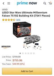 Amazon Prime Now - US] 75192 Millennium Falcon $755.06 (6 ...