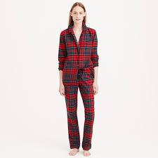 pajama set in plaid flannel j crew