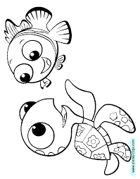 Finding Nemo Coloring Pages Disney Book New Year Color