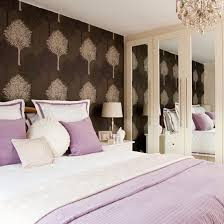 Lavender Bedroom With Feature Wall
