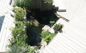 Aquascape Patio Pond Canada by A Deck Water Feature From A Goodwill Find Hometalk