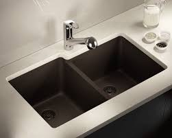 Blanco Sink Strainer Leaking by 801 Mocha Double Offset Bowl Trugranite Sink