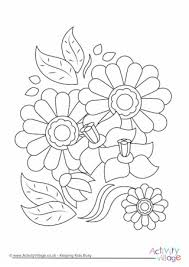 Flowers Colouring Page 1