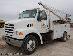 100 Service Truck With Crane For Sale 1999 Sterling LLine Service Truck With Crane Item EA9021