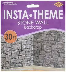 Halloween Scene Setters by Amazon Com Stone Wall Scene Setter Toys U0026 Games