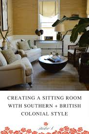 British Colonial Southern Style Sitting Room