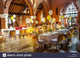 A Church Hall Laid Out With Tables And Chairs Dressed In ... Wedding Table Set With Decoration For Fine Dning Or Setting Inspo Your Next Event Gc Hire Party Rentals Gallery Big Blue Sky Premier Series And Wood Folding Chair With Vinyl Seat Pad Free Storage Bag White Starlight Events South Wales Home Covers Of Lansing Decorations Chiavari Elegant All White Affaire Black White Red Gold Reception Decorations Pink Oconee Rental In Athens Atlanta