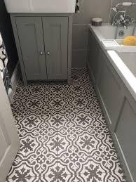 vintage modern pattern tile bathroom shabby chic style