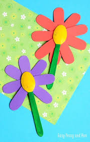 Summer Preschool Crafts Easy Wooden Spoon Flower Craft And Fun Handmade Ideas For Home