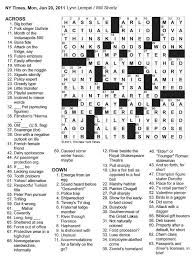 the new york times crossword in gothic june 2011