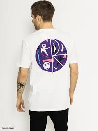 Skate T shirt Cut Out Fill Logo white