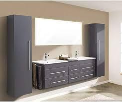 badmöbelset familien doppel badezimmer möbelset waschplatz mit 6 soft schubladen in anthrazit seidenglanz