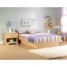 South Shore Step e Full Platform Bed 54 Natural Maple Free