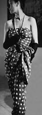 polka dots u2022 u2022 vintage lady in cristobal balenciaga bustier dress