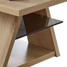 holz dekor wohnzimmer tisch mit glas ablage latesma
