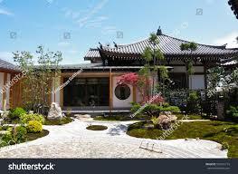 100 Japanese Modern House Plans Front View Exterior Zen Garden Stock Photo Edit