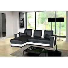 canapé cuir noir convertible canapé d angle convertible pablo noir et blanc moderne et tendance