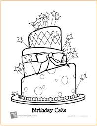 Birthday Cake Coloring Pages Printable 13