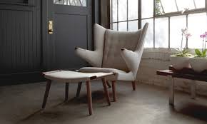 Authentic Hans Wegner Papa Bear Chair by Papa Bear Chair Upholstery Seating Modernica