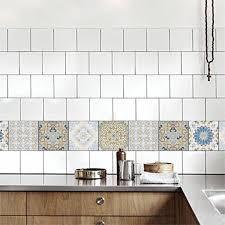 20 stück mosaik wandfliesen aufkleber küche bad wasserdicht abziehbilder 1 15x15cm fliesenaufkleber 新款 新款