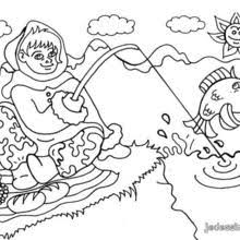Fishing Day Coloring Page