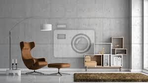 modernes wohnzimmer mit sichtbetonwand poster myloview