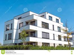 100 Modern Townhouses White In Germany Stock Photo Image Of