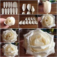 How To DIY Easy Rose From Crepe Paper