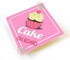 European Bath Mat Without Suction Cups by Cake On Board Car Sign Cute Cupcake Sign Suction Cups
