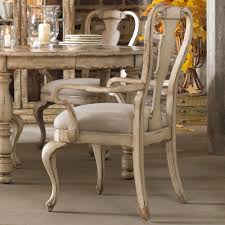 Hooker Furniture Wakefield Distressed White Splatback Arm Chair With Upholstered Seat