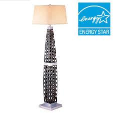 ORE International 60 in Dark Brown Floor Lamp K 4178F The Home Depot
