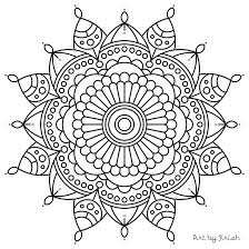Full Image For 106 Printable Intricate Mandala Coloring Pages By Krishthebrand Advanced