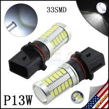 100 Truck Lite Cross Reference 2pcs White 6000K P13W 33SMD LED Bulbs For Auto Car Fog Lamp