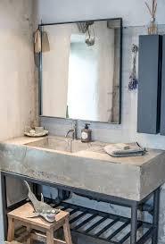 Diy Industrial Bathroom Mirror by 32 Trendy And Chic Industrial Bathroom Vanity Ideas Digsdigs
