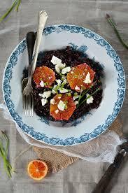 cuisine salade de riz salade de riz noir à la feta et orange sanguine recette