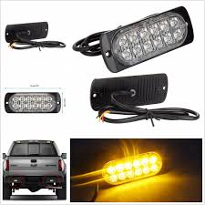 ULTRA SLIM VEHICLES Truck Off-Road Amber 12LED Flashing Strobe Light ... Light Truck Strobe Ford Expands Firstever Factoryinstalled Warning Led Lights 12v 24v 18w 6 Waterproof Car Emergency Beacon Cyan Soil Bay 4 Rv Flash Bar 2016 F150 Adds Builtin For Fleet Vehicles Hideaway Automotives Hideaway Mini Vehicle Trailer Round Led For Trucks 4428 Watch Now Accsories 54 Blue Red Nwhosale New 2 X 48 96led Flashing 4led 19 Function Parts 26422rd Recon 2x22 Flasher Lamp Bars With