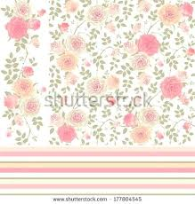 Shabby Chic Wallpaper Borders Set Of Vector Patterns With Climbing Roses Seamless Floral Background Border And