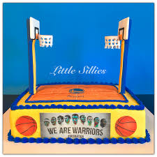 A Golden State Warriors Basketball Court Cake