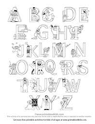 Alphabet Coloring Pages Just Letters