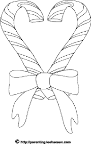 Christmas Candy Canes Coloring Sheet