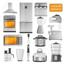 küchen elektrogeräte große illustrationen eingestellt