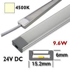 barre de led exterieur réglette led 50 cm rigide 24vdc barre eclairage aluminium