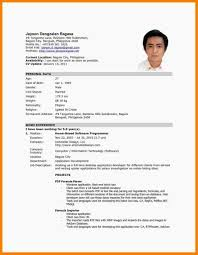 Example Of Resume For Service Crew