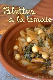 recette blettes sauce tomate cuisine du monde