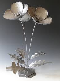 Poppy Flowers Metal Sculpture By NatureofSteel Would Love These In My Front