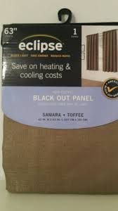 Eclipse Room Darkening Curtains by Eclipse Samara Blackout Energy Efficient Curtain Panel Toffee