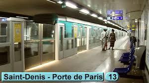 metro denis porte de métro denis porte de line 13 ratp mf77